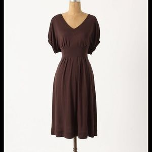 Anthropologie Deletta Brown Back Porch dress